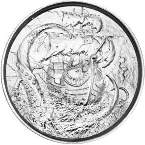 2 oz Silver The Kraken Ultra High Relief Round