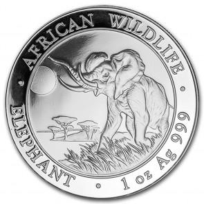 1 oz Silver Somalian Elephant Coin 2016
