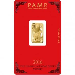 5 gram Gold PAMP Suisse Monkey Bar