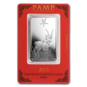 1 oz Silver PAMP Suisse Goat Bar