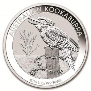 10 oz Silver Perth Mint Australian Kookaburra Coin 2016