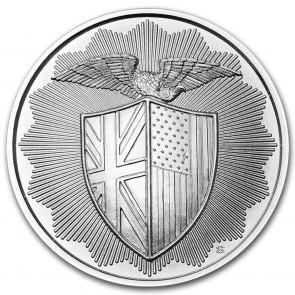 1 oz Silver RMR Shield Round