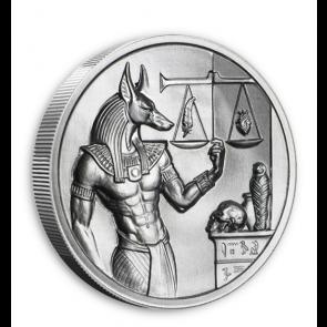 2 oz Silver Anubis Ultra High Relief Round