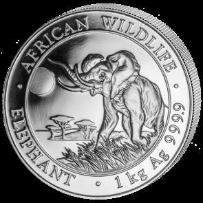 1 kilo Silver Somalian Elephant Coin 2016