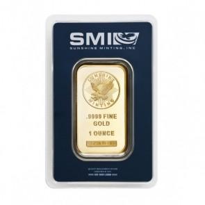 1 oz Gold Sunshine Mint Bar