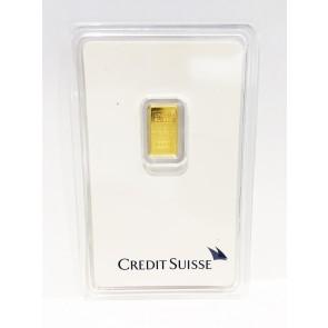 1 gram Gold Credit Suisse Bar