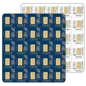 25 x 1 gram Gold PAMP Fortuna Multigram