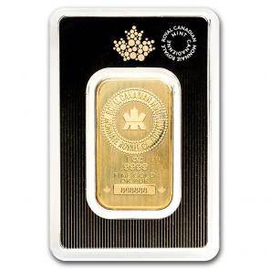 1 oz Gold Royal Canadian Mint Bar (NEW design)