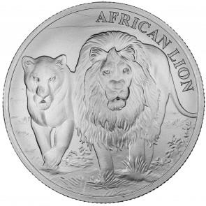 1 oz Silver Congo African Lion Coin 2016