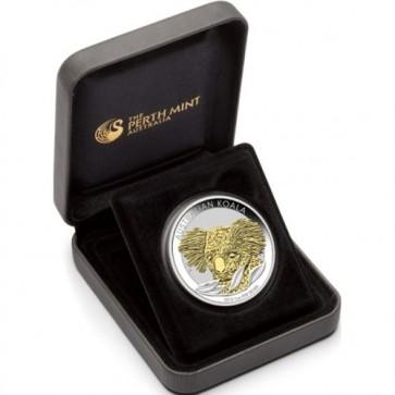 1 oz Silver Perth Mint Gilded Koala 1 oz coin 2014