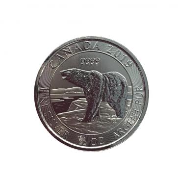 1/2 oz Silver Canada Polar Bear Coin 2019
