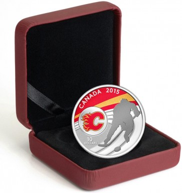 1/2 oz Silver NHL Calgary Flames Hockey Coin 2015
