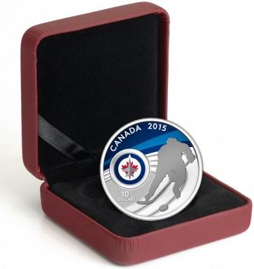 1/2 oz Silver NHL Winnipeg Jets Hockey Coin 2015