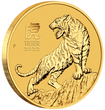 2 oz Gold Perth Mint Year of the Tiger Coin 2022