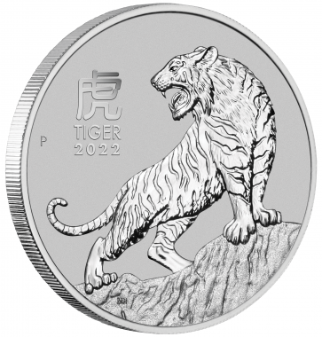 1 oz Platinum Perth Mint Year of the Tiger Coin 2022