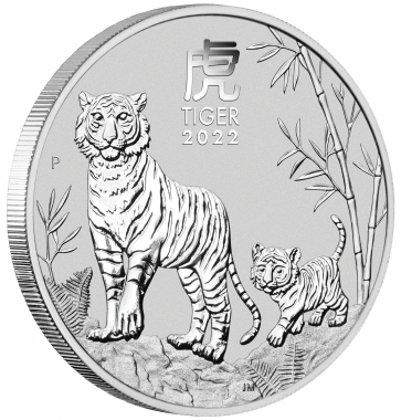 1 oz Silver Perth Mint Year of the Tiger Coin 2022
