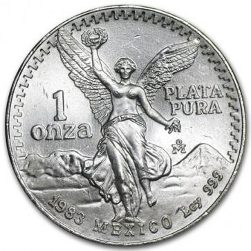 1 oz silver Mexican Libertad Coin Pre 1993