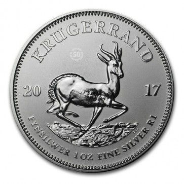 1 oz Silver South African Krugerrand Premium Uncirculated Coin 2017