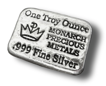 1 oz Silver Monarch Precious Metals Bar