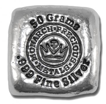 50 gram Silver Monarch Precious Metals Bar