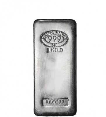 1 kilo Silver Johnson Matthey Bar