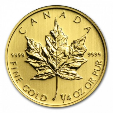 1/4 oz Gold Canadian Maple Leaf Coin Pre-Year