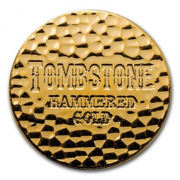 1 oz Gold Scottsdale Tombstone Hammered Round