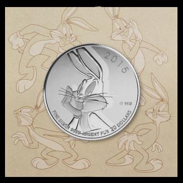 1/4 oz Silver $20 for $20 Bugs Bunny Coin 2015