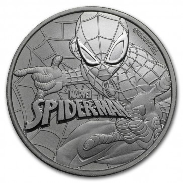 1 oz Silver Marvel Series Spiderman Coin 2017