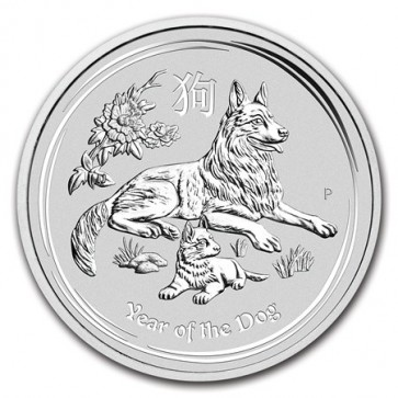 2 oz Silver Perth Mint Year of the Dog Coin 2018