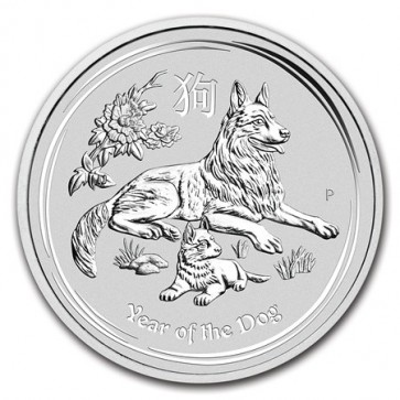 1 Kilo Silver Perth Mint Year of the Dog Coin 2018