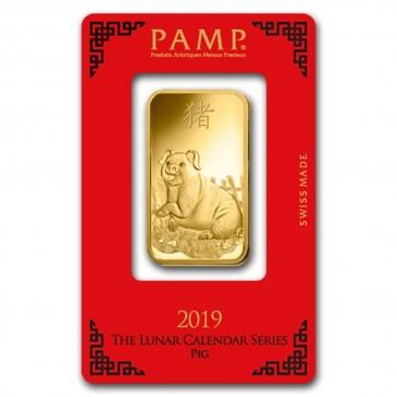 1 oz Gold PAMP Suisse Pig Bar
