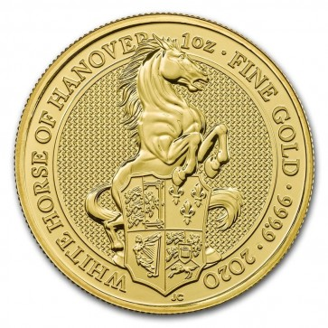 1 oz Gold Queen's Beasts The White Horse of Hanover Coin 2020