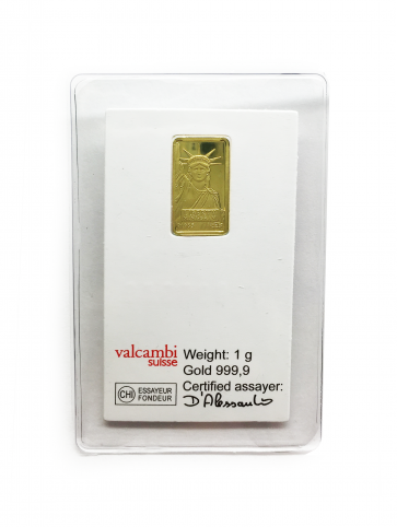 1 gram Gold Credit Suisse Liberty Bar