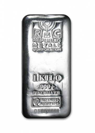 1 kilo Silver Republic Metals Bar