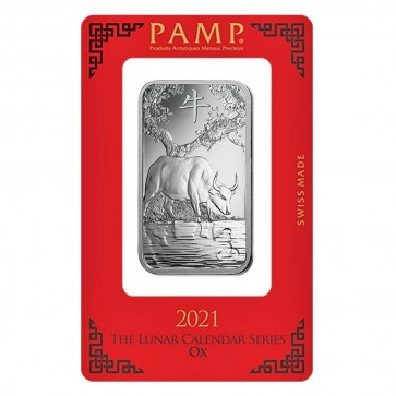 1 oz Silver PAMP Suisse Ox Bar