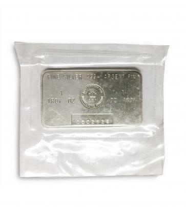 1 oz Silver Royal Canadian Mint Bar