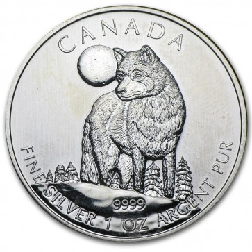 1 oz Silver Wildlife Series Timber Wolf Coin 2011