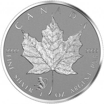 1 oz Silver Canadian Maple Leaf Monkey Privy Coin 2016