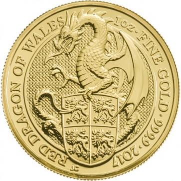 1 oz Gold Queen's Beast - The Dragon Coin 2017