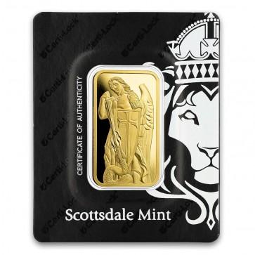 1 oz Gold Scottsdale Mint PAMP Archangel Michael Bar
