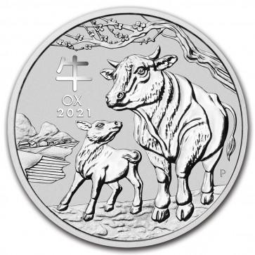 1 oz Silver Perth Mint Lunar Ox (Series III) Coin 2021