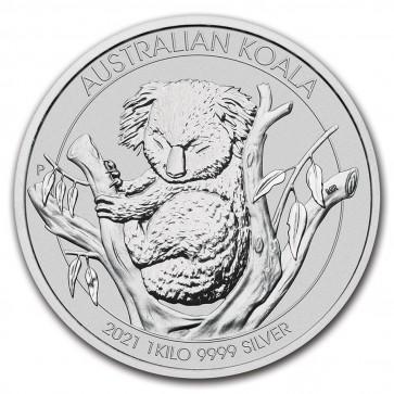 1 Kilo Silver Perth Mint Koala Coin 2021