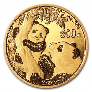 30 gram Gold Chinese Panda Coin 2021
