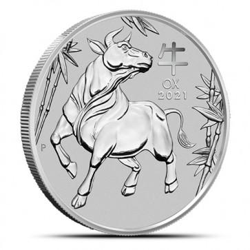 1 oz Platinum Perth Mint Lunar Ox Coin 2021