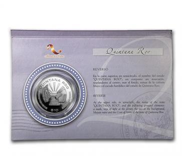 1 oz Silver Mexican Quintana Roo Coin