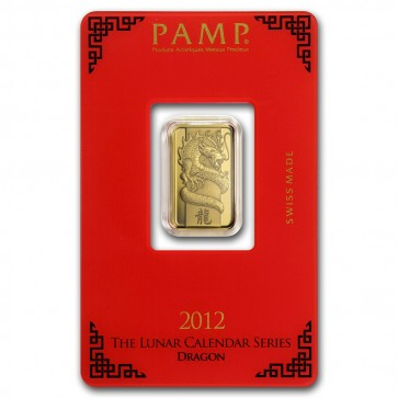 5 gram Gold PAMP Suisse Dragon Bar