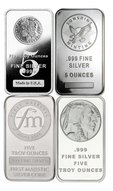 5 oz Silver Various  Bar