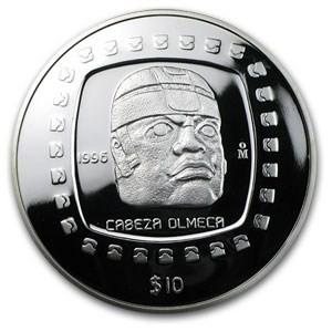5 oz Silver Cabeza Olmea Coin 1996