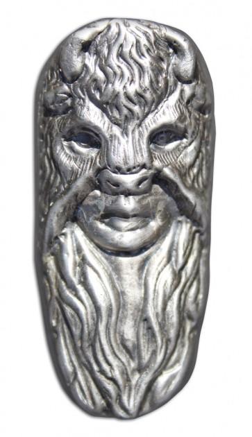 7 oz Silver Bison Bullion - Bison Mask Girl Bar